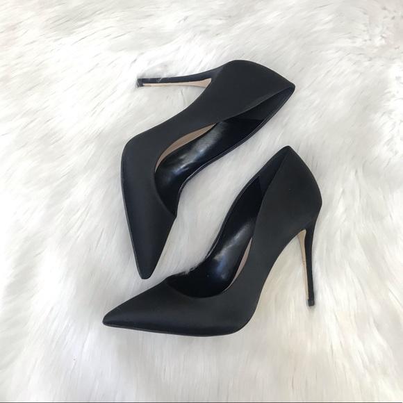 Like New Aldo Black Satin Stilettos